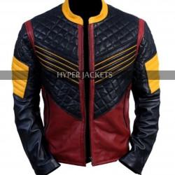 The Flash Carlos Valdes Bomber Leather Jacket