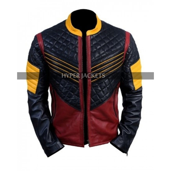 The Flash Carlos Valdes Bomber Leather Jacket