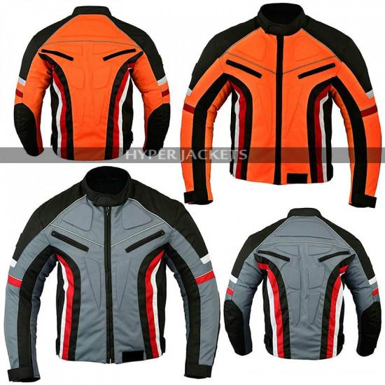 Men Short Motorbike Motorcycle Armoured Weather Cotton Jacket