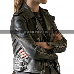 Chicago P.D Costumes Tracy Spiridakos Black Leather Jacket