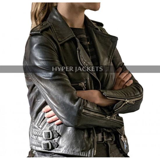 Chicago P.D Costumes Tracy Spiridakos Black Leather Jacket