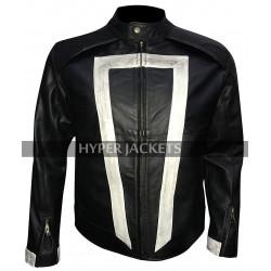 Ghost Rider Agents of Shield Robbie Reyes Black Biker Leather Jacket