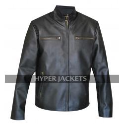 Clint Barton Avengers Age of Ultron Jeremy Renner Black Biker Leather Jacket