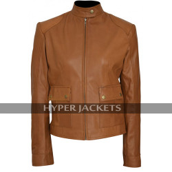 Black Widow The Avengers Scarlett Johansson Brown Biker Leather Jacket