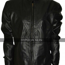 Scarlett Johansson Avengers Age Of Ultron Black Widow Costume Leather Jacket