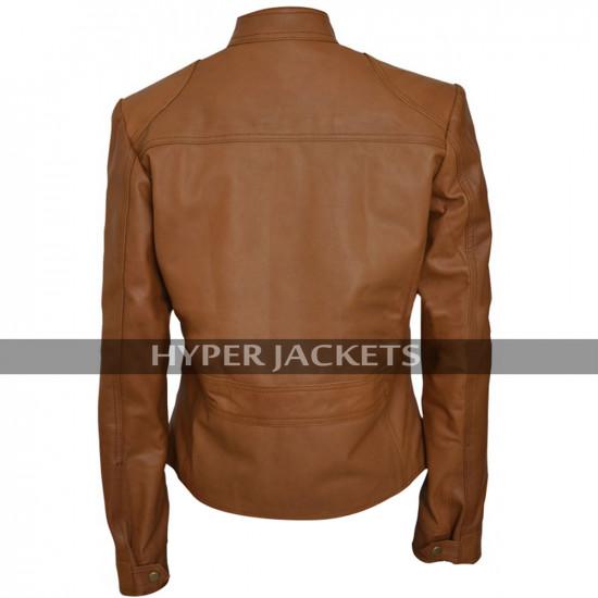 Black Widow The Avengers Scarlett Johansson Brown Biker Leather Jacket