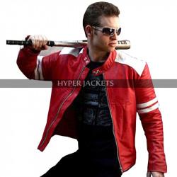 Fight Club Mayhem Brad Pitt Biker Leather Jacket