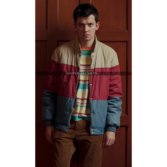 Otis Milburn Sex Education Costume Parachute Bomber Jacket