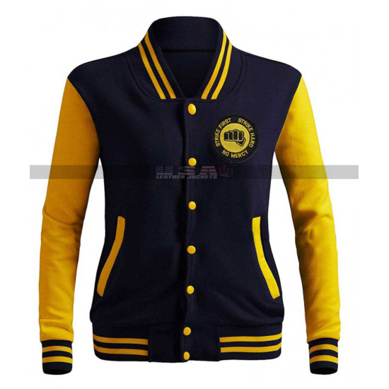 Moletom Karate Kid College Cobra Kai Blue Letterman Jacket