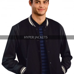 The Perfect Date Noah Centineo Black Letterman Jacket