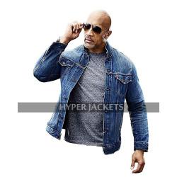 Fast & Furious Presents: Hobbs & Shaw Dwayne Johnson Blue Denim Jacket