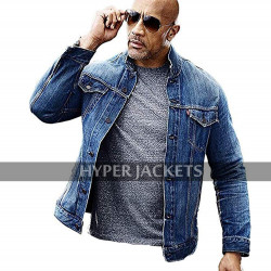 Fast & Furious Presents: Hobbs & Shaw Dwayne Johnson Blue Denim Jacket