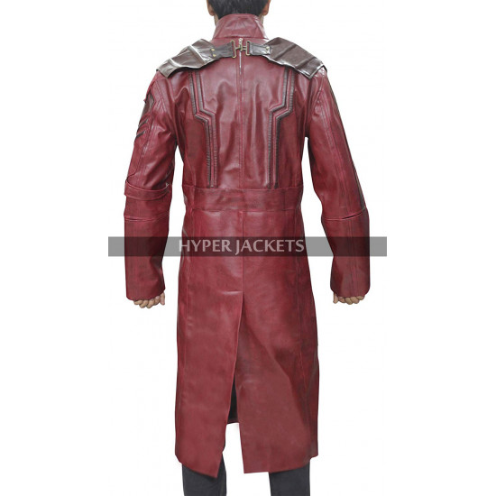 Star Lord Guardians of the Galaxy Vol 2 Peter Quill Chris Costume Leather Coat