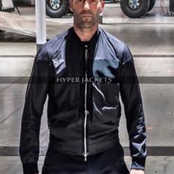 Fast and Furious  Hobbs and Shaw Jason Statham Black Satin Jacket