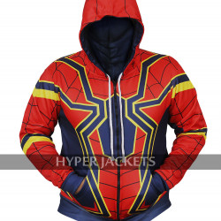 Tom Holland Avengers Infinity War Iron Spiderman Hoodie Costume Cotton Jacket
