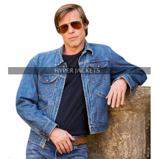 Once Upon A Time In Hollywood Brad Pitt Blue Denim Jacket