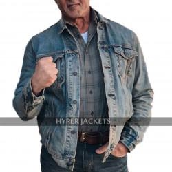Rambo Last Blood Sylvester Blue Denim Jacket