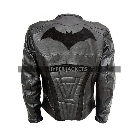 Batman Arkham Knight Costume Armored Motorcycle Padded Biker Leather Jacket