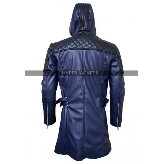 Devil May Cry DMC 5 Nero Blue Costume Leather Coat