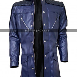 Devil May Cry DMC 5 Nero Blue Costume Leather Coat
