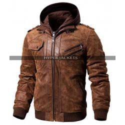 Playerunknowns Battlegrounds Pubg Leather Hooded Jacket