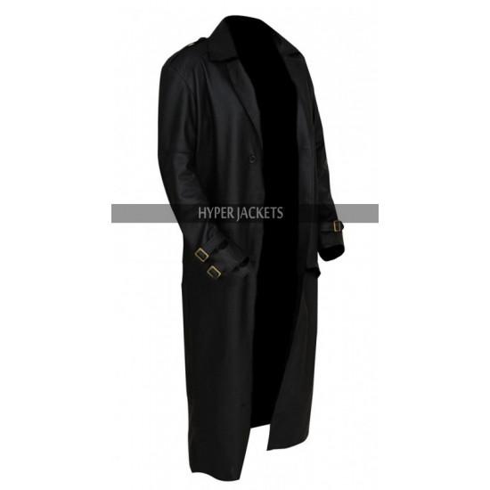 Nick Fury Captain Marvel Costume Black Leather Coat