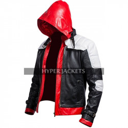 Red Hood Batman Arkham Knight Jason Todd Hoodie Costume Leather Jacket