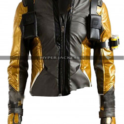 Overwatch Soldier 76 Gold Version Cosplay Costume Leather Jacket