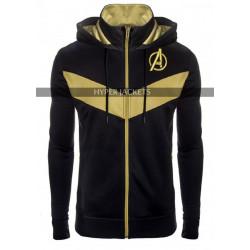 Avengers Endgame Costume gold black Hoodie Jacket