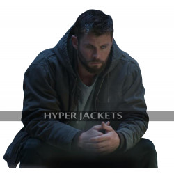 Thor Avengers Endgame Chris Hemsworth Grey Hoodie Cotton Jacket