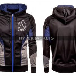 Avengers Endgame Costume Quantum Black Fleece Hoodie Jacket