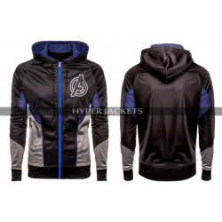 Avengers Endgame Costume Quantum Black Fleece Hoodie Jacket