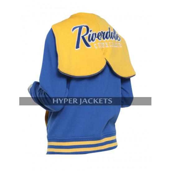 Womens Riverdale Blue Hoodie R Logo Cheer Girls Fleece Bomber Varsity Jacket
