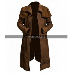 Fallout New Vegas NCR Veteran Duster Black / Brown Leather Coat