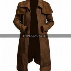 Fallout New Vegas NCR Veteran Duster Black / Brown Leather Coat