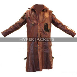 Yundo Guardians Of Galaxy Vol 2 Michael Rooker Costume Brown / Black Leather Coat