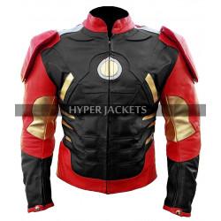 Iron Man Avengers Age Of Ultron Tony Stark Robert Costume Leather Jacket
