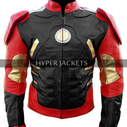 Iron Man Avengers Age Of Ultron Tony Stark Robert Costume Leather Jacket
