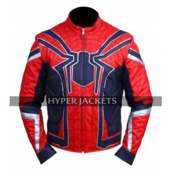 Spiderman Avengers Infinity War Tom Holland Costume Leather Jacket