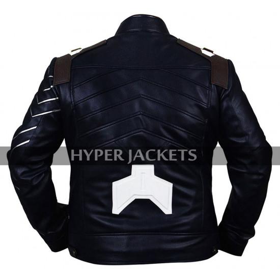 Bucky Barnes Avengers Infinity War Sebastian Stan Costume Leather Jacket