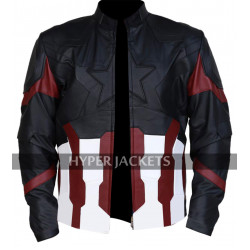 Captain America Avengers Infinity War Steve Chris Evans Leather Jacket