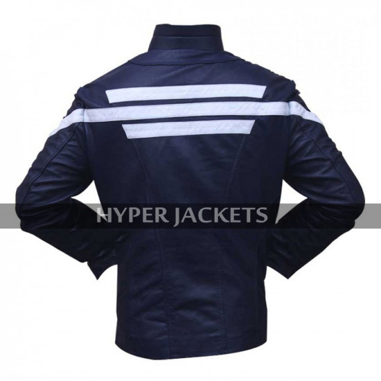 Captain America Winter Soldier Steve Chris Evans Blue Costume Jacket