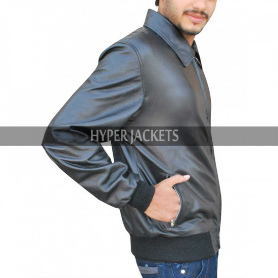 Oliver Queen Arrow Season 3 Bomber Leather Jacket