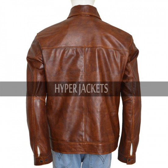 Arrow John Diggle David Ramsey Brown Leather Jacket