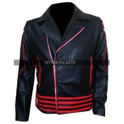 Freddie Mercury Rami Malek Red And Black Leather Jacket