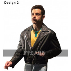 Bohemian Rhapsody Freddie Mercury Black Biker Leather Jacket