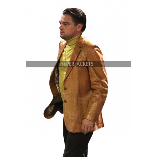 Once Upon A Time In Hollywood Rick Dalton Biker Brown Leather Jacket