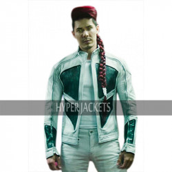 Shatterstar Deadpool 2 Lewis Tan White Leather Jacket