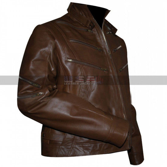 Identity Arrow Season 2 Michael Jai Bronze Tiger Brown Leather Jacket