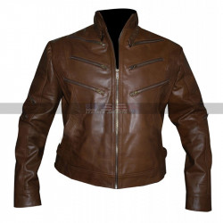 Identity Arrow Season 2 Michael Jai Bronze Tiger Brown Leather Jacket